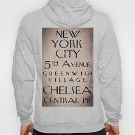 New York City Street Sign II Hoody