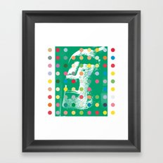 Easter Island Head With Dots Framed Art Print