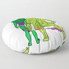 Superhero Butts Love 5 - Green Floor Pillow