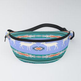 Decorative Christmas pattern with deer II Fanny Pack