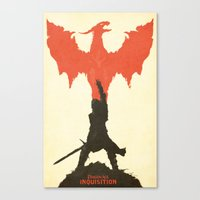 dragon age inquisition Canvas Prints featuring Dragon Age: Inquisition V1 by FelixT