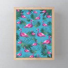 Summer Flamingo Palm Vibes #2 #tropical #decor #art #society6 Framed Mini Art Print