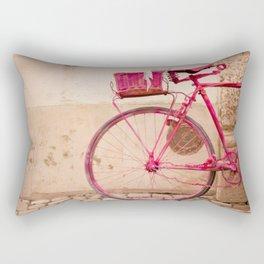 Lady in Pink Rectangular Pillow
