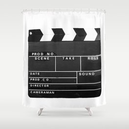 Film Movie Video production Clapper board Shower Curtain