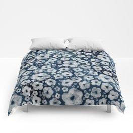 Mood indigo ditsy floral Comforters