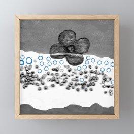 Flower in white Framed Mini Art Print