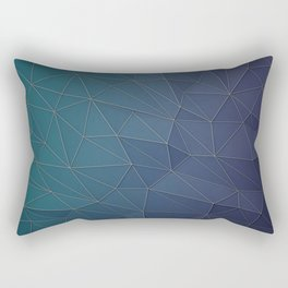 Elegant Low Poly Web Rectangular Pillow