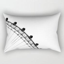 The Ferris Wheel (Black and White) Rectangular Pillow