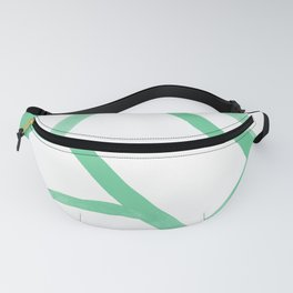Abstract Map green Nr.2 Fanny Pack