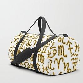 Zodiac signs background. Horoscope symbols. Astrology background Duffle Bag