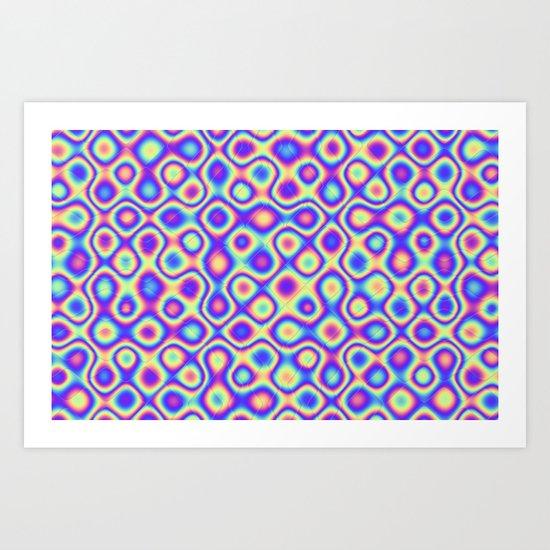 Pattern 60's like Art Print