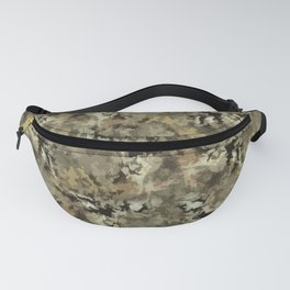 Abstract black and brown pattern Fanny Pack