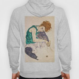 "Egon Schiele ""Seated Woman with Legs Drawn Up"" Hoody"