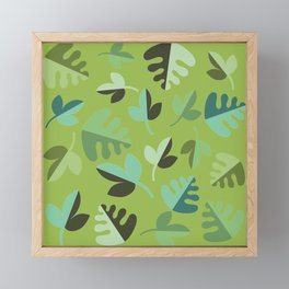 Shades of Green Leaves Framed Mini Art Print