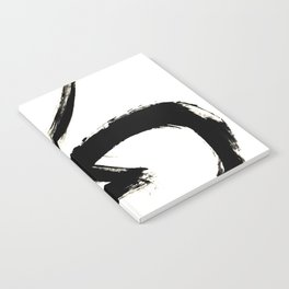 Brushstroke 3 - a simple black and white ink design Notebook