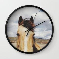 Cloudy Horse Head Wall Clock
