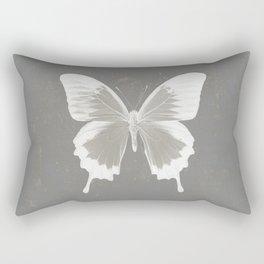 Butterfly on grunge surface Rectangular Pillow