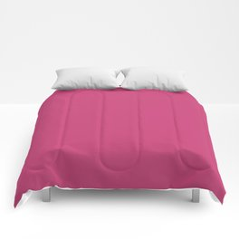 Pink Peacock | Pantone Fashion Color | Spring : Summer 2019 | New York and London | Solid Color Comforters