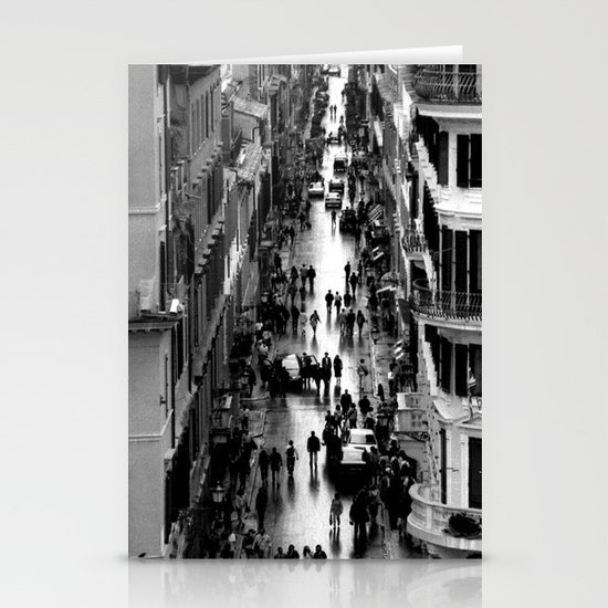 Rome, view from Spanish steps Stationery Cards