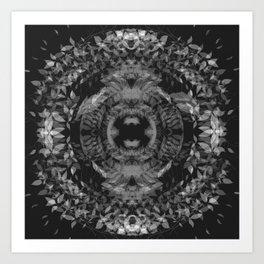 SYCAMORE STAMPSWIRLINGMONO Art Print