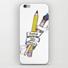 Creativity Takes Courage iPhone & iPod Skin