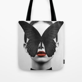 BLACK BUTTERFLY Tote Bag