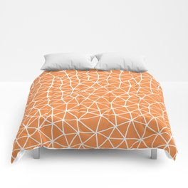 Connectivity - White on Orange Comforters