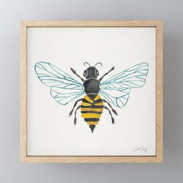 Honey Bee Framed Mini Art Print
