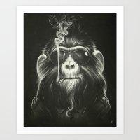 Art Prints featuring Smoke 'Em If You Got 'Em by Dr. Lukas Brezak