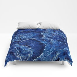 Blue Marble Stone Comforters