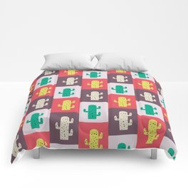 Rectangle cacti Comforters