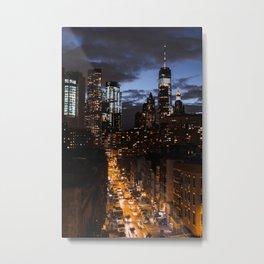 NYC at night Metal Print