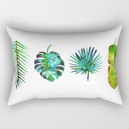 Four Tropical Leaves Rectangular Pillow