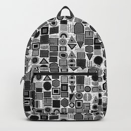 frisson memphis bw inverted Backpack