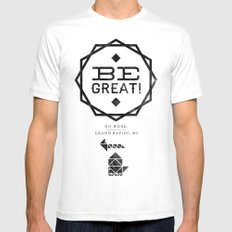 Be Great. Mens Fitted Tee MEDIUM White