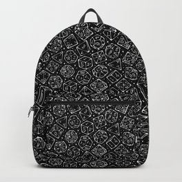 Roll the Dice in Black Backpack