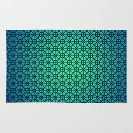 Morocco Pattern Blue Rug
