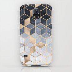 Soft Blue Gradient Cubes Galaxy S5 Slim Case