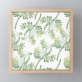 Forest Ferns Pattern Framed Mini Art Print