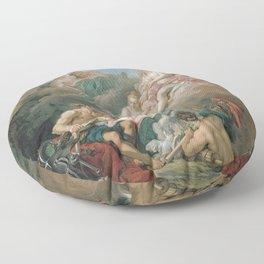 François Boucher - Venus at Vulcan's Forge Floor Pillow