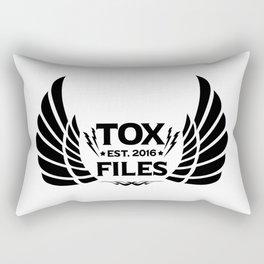 Tox Files - Black on White Rectangular Pillow