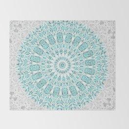 A Glittering Mandala Throw Blanket