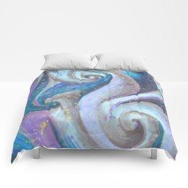 Swirl (blue and purple) Comforters
