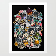 Overcute Art Print