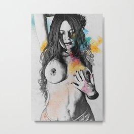 Paint a Vulgar Picture   female nude erotic portrait Metal Print