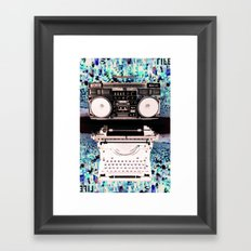 Stereo Type Framed Art Print