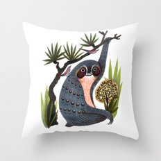Sloth Friends Throw Pillow