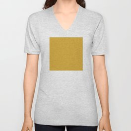 24 Karat Gold Tres Petit Geometric Pattern Unisex V-Neck