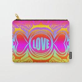 heart center3 rainbow Carry-All Pouch