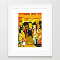 pulp Framed Art Prints featuring Pulp Fiction by Ale Giorgini